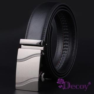 【Decoy】商務男仕*都會金屬真牛皮自動皮帶/水波