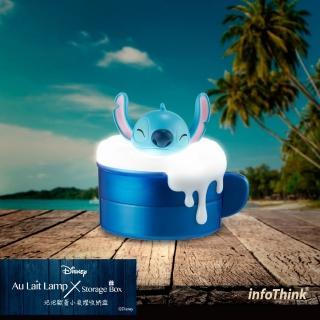 【InfoThink】迪士尼系列USB泡泡歐蕾小夜燈收納盒(史迪奇)