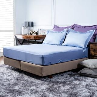 【HOLA】雅緻天絲素色床包 特大 湛藍