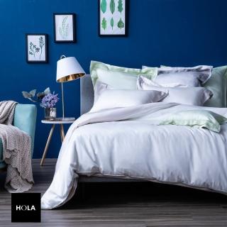 【HOLA】雅緻天絲素色床包特大米白