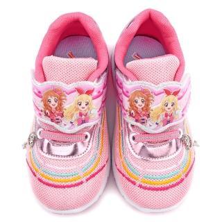 【童鞋城堡】偶像學園 中大童 絢麗鞋底閃燈透氣運動鞋(ID5234-粉)