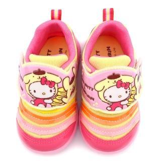【童鞋城堡】Kitty X 布丁狗聯名款 中童 毛毛蟲輕量運動鞋(KT7195-粉)