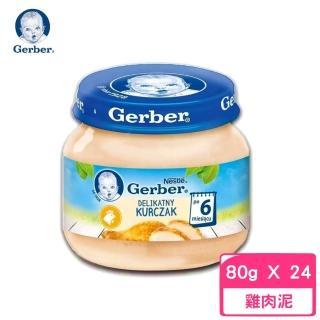 【Gerber 嘉寶】雞肉泥 80g(24罐組)