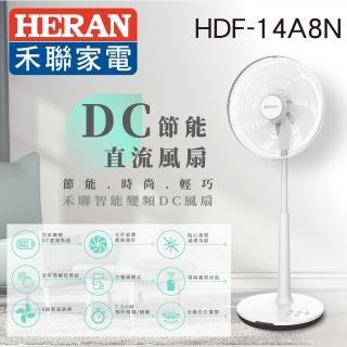 【HERAN禾聯】momo獨家★日本品牌馬達14吋智慧觸控變頻7葉片DC扇(HDF-14A8N)