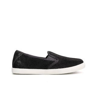【Timberland】女款黑色正絨面皮革便鞋(A1VK2001)