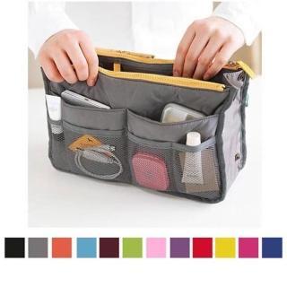 【PS Mall】韓版防水雙拉式多功能收納包中包 化妝包 旅行袋(J597)