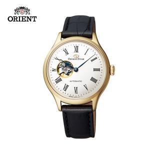 【ORIENT 東方錶】ORIENT STAR 東方之星 CLASSIC系列 縷空機械錶 女生 皮帶款 金色 30.5mm(RE-ND0004S)