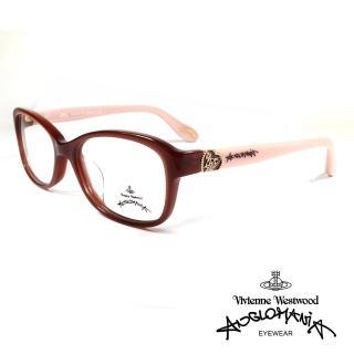 【Vivienne Westwood】英國薇薇安魏斯伍德典雅系列光學眼鏡(咖/裸 AN300 03)