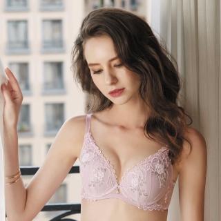 【Wacoal 華歌爾】伊珊露絲 深V系列  B-C 罩杯內衣-性感豐胸-刺繡蕾絲(丁香紫)