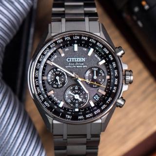 【CITIZEN 星辰】代言人 廣告配戴款 衛星對時鈦金屬腕錶(CC4004-58E)
