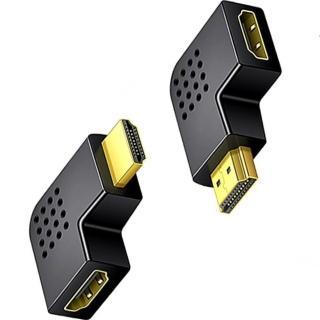 【Ainmax 艾買氏】HDMI公對母 轉接頭(精密轉接頭 右彎左彎兩種可選)