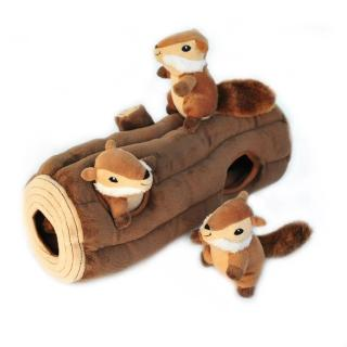 【ZippyPaws】益智躲貓貓-開心花栗鼠之家  有聲玩具(寵物玩具 有聲玩具 益智玩具)
