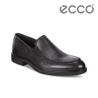 【ecco】VITRUS III 簡約商務套入式正裝鞋 男(黑 64051401001)