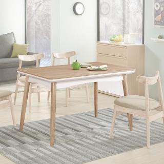 【H&D】穎視橡木色4.3尺餐桌(橡木色餐桌 橡木餐桌 木餐桌 餐桌 桌)