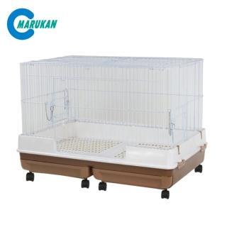 【Marukan】雙抽屜式精緻兔籠〈咖啡〉H55(MR-999)