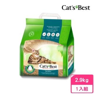 【CAT'S BEST 凱優】強效凝結除臭木屑砂《黑標》8L/2.9kg