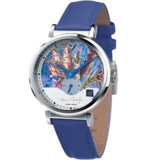 【梵谷Van Gogh Swiss Watch】小秒盤梵谷經典名畫女錶(C-SLLV-15 植物)