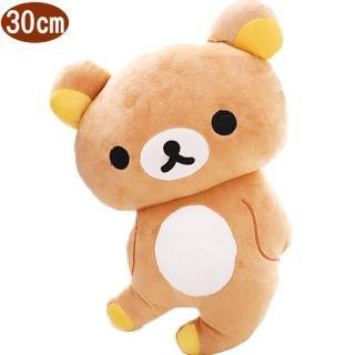 【TDL】拉拉熊懶懶熊絨毛娃娃玩偶扁抱枕午睡枕30公分 571790