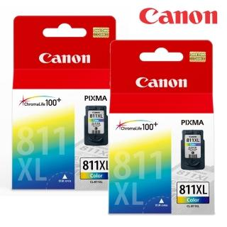 【Canon】CL-811XL 原廠高容量彩色墨水匣(2入)