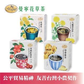 【曼寧】台灣玫瑰紅棗茶包3gx15入輕巧盒(台灣紅棗、零農檢、養顏美容)