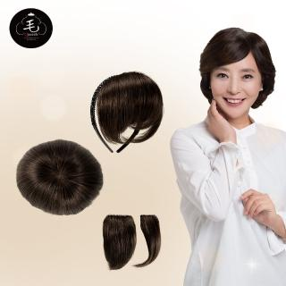 韓國全真髮手工製自然透氣增髮髮片
