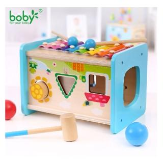 【Boby】木製多功能八音敲打琴球台(兒童敲琴)
