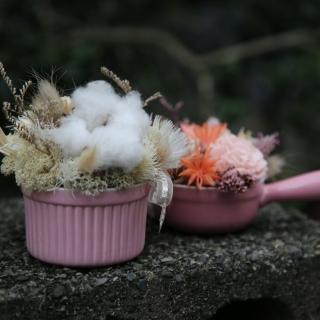 【Santa Ana】乾燥盆花組(瓷盆乾燥花組合)