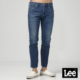 【Lee】Lee 低腰合身小直筒牛仔褲/DC(中藍色洗水)