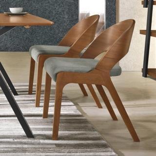【BODEN】米迦實木布面餐椅/單椅