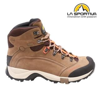 【LA SPORTIVA】TYPHOON NABUCK GTX 防水透氣牛皮中筒健行登山鞋 咖啡(GTX 防水 登山 越野)