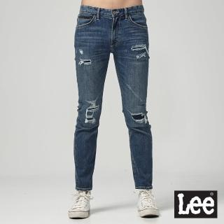 【Lee】Lee 低腰合身3D牛仔褲/UR(深藍色)