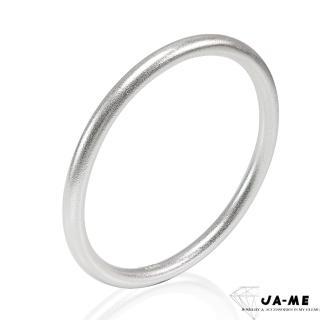 【JA-ME】999千足銀古法製銀簡約圓骨手鐲(原銀色)