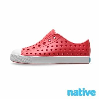 【native】小童鞋 JEFFERSON 小奶油頭鞋(火炬紅x貝殼白)