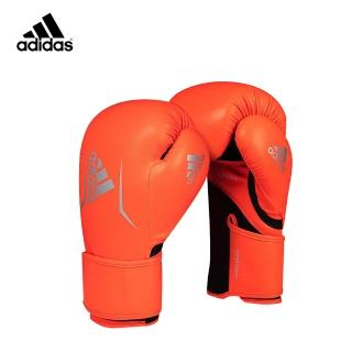 【adidas 愛迪達】adidas SPEED100 拳擊手套 螢光橘/銀(踢拳擊手套、泰拳手套、沙包手套)