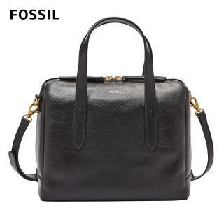 【FOSSIL】Sydney 黑色輕量真皮波士頓包SHB1978001