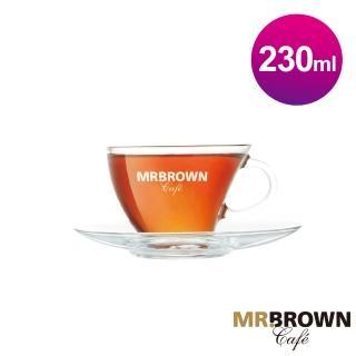 【MR.BROWN 伯朗】晶透帆船杯盤組 杯+盤