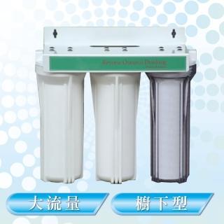 大流量廚下型三胞胎濾水器(3分進水口徑)