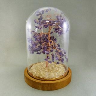 【寶峻晶石館】紫水晶發財樹/生命樹(附玻璃罩)