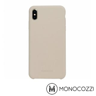 【MONOCOZZI】Gritty SoftTouch iPhone XS Max 液態矽膠防污保護殼(灰色)