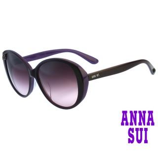 【ANNA SUI 安娜蘇】安娜優雅系列太陽眼鏡(AS927-233-紫)