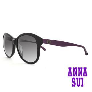 【ANNA SUI 安娜蘇】安娜優雅系列太陽眼鏡(AS809-001-黑)