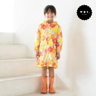 【w.p.c】空氣感兒童雨衣/超輕量防水風衣 附收納袋(克拉拉花朵L)
