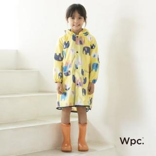 【w.p.c】空氣感兒童雨衣/超輕量防水風衣 附收納袋(頑皮象M)