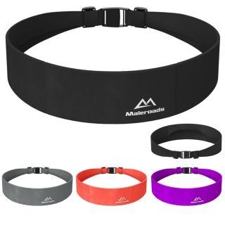 【Maleroads】輕薄款 彈力貼身運動腰包 跑步 旅遊 健身 貼身隱形腰包(容納6吋以下手機 鑰匙 隨身物品收納)