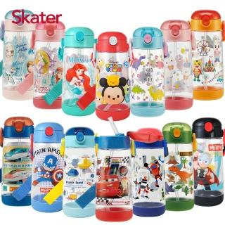 【Skater】透明吸管PET水壺-480ml/