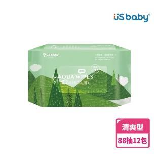 【US BABY 優生】清爽型純淨柔濕巾88抽(12包)