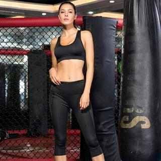 【KISSDIAMOND】高腰超彈力塑腹側口袋7分壓縮褲-2032(瑜珈/運動/跑步/健身/瘦腿褲/女款3色S-XL)