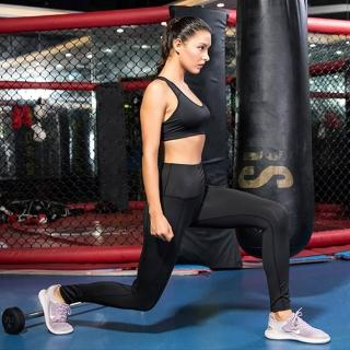 【KISSDIAMOND】彈力超高腰塑腹側口袋9分款壓縮褲-2060(瑜珈/運動/跑步/健身/瘦腿褲/女款5色S-XL)