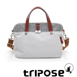 【tripose】漫遊系列岩紋玩色兩用手提背包(粉灰)