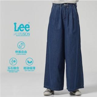 【Lee】Lee 牛仔寬褲/DC-季節性版型(深藍色洗水)